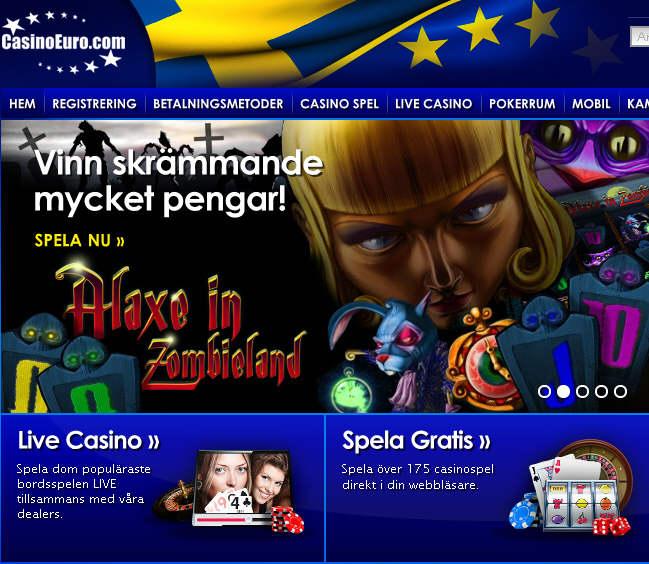 200 % i bonus upp till 50 Euro hos CasinoEuro