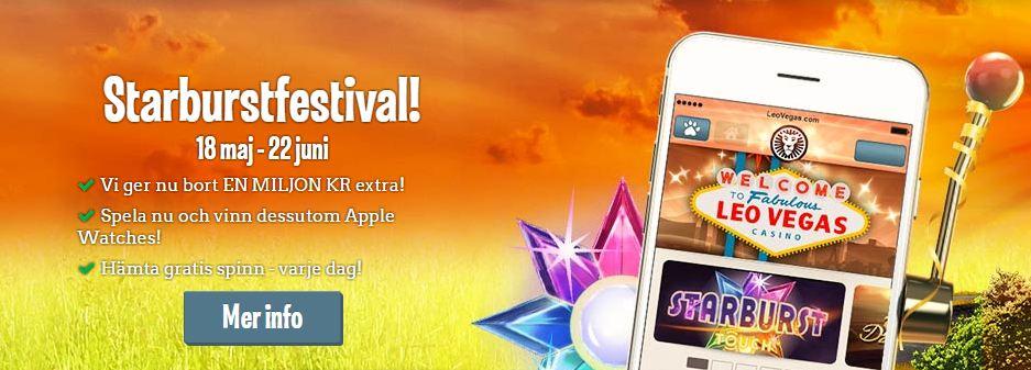 Starburstfestival på Leo Vegas Casino