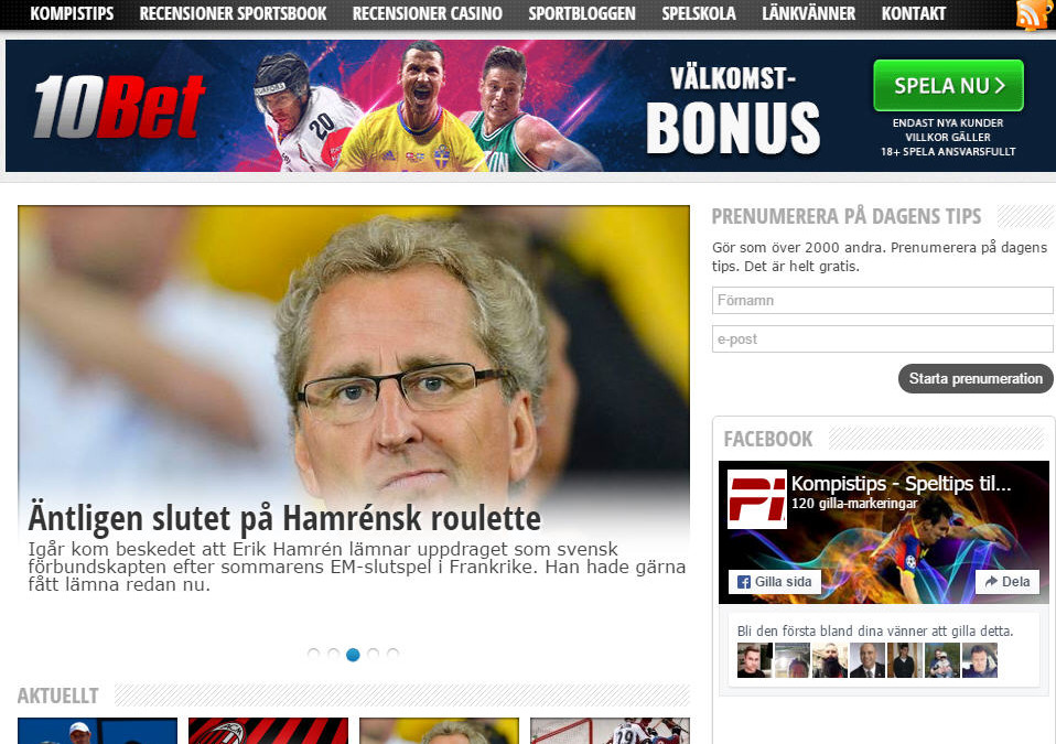 Fotbollstips hos Kompistips.se